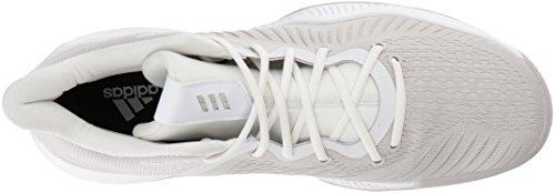 Scarpa Da Basket Adidas Uomo Pazzo Rimbalzo Ftwr Bianco, Gesso Perla S, Cristallo Bianco S