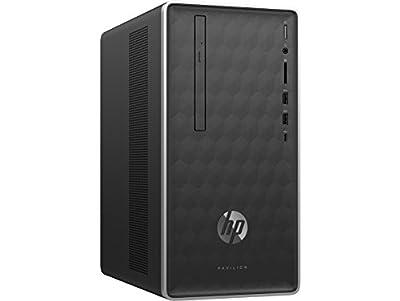HP Pavilion Desktop Computer, AMD Ryzen 7 1700, 12GB RAM, 1TB hard drive, Windows 10 (590-p0060, Silver)