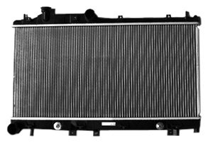 TYC 2777 Subaru Legacy 1-Row Plastic Aluminum Replacement ()