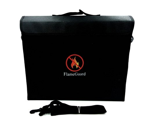 Fireproof Bag Flame Guard Dual Layer Fire And Water Resistant Document File Money Pouch for Valuables Laptops Jewelry (16