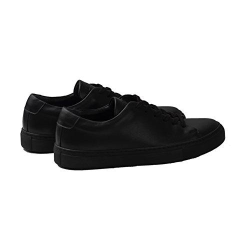 Lenger Sneakers Cuir Noir IzdBrE6AmT