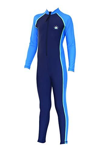 2fbb9c5bc7f Boys Full Body Stinger Swimsuit Sun Protection Swimwear Navy Blue (4)