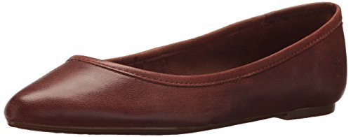 FRYE Women's Regina Ballet Flat, Cognac, 7 M US (Pointy Brown Toe)