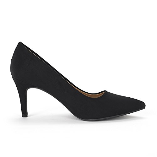 DREAM PAIRS Womens Kucci Classic Fashion Pointed Toe High Heel Dress Pumps Shoes Black Suede cAFXrVkC7s