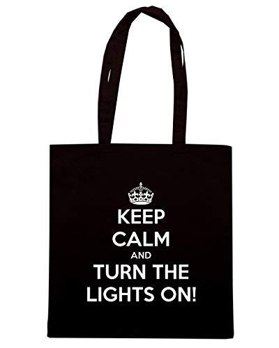 Nera AND LIGHTS ON Borsa KEEP Shopper CALM TURN TKC1302 THE 5XFqwF8