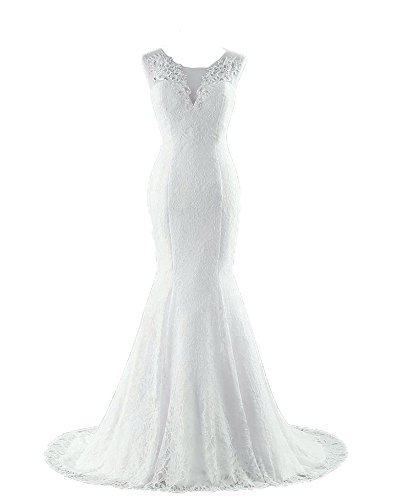 White Bridal Wedding Gown - 6