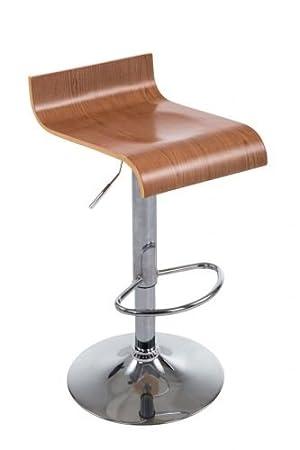 clp tabouret de bar wood rglable en hauteur avec repose pied assise en - Chaise Bar