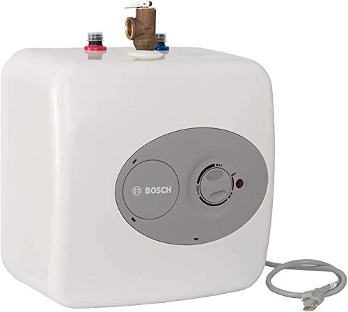 Bosch Electric Mini-Tank Water Heater Tronic 3000 T 2.5-Gallon ES2.5 – Eliminate Time for Hot Water – Shelf, Wall or Floor Mounted