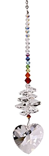 Woodstock Chimes Heart Cascade Suncatcher- Rainbow Maker Collection by Woodstock Chimes