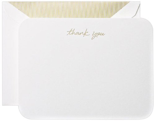 Crane & Co. Round Corner Thank You Cards (CT6301) (You Thank Stationery)