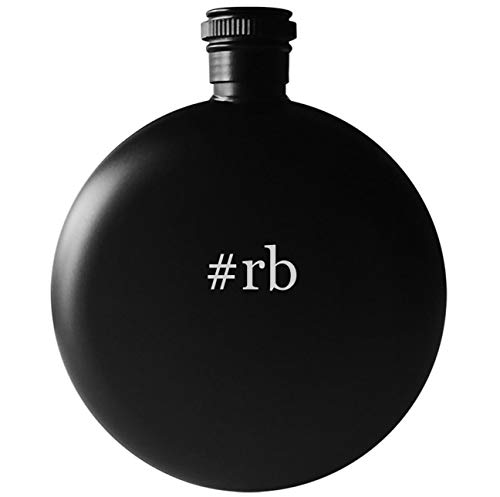 #rb - 5oz Round Hashtag Drinking Alcohol Flask, Matte Black