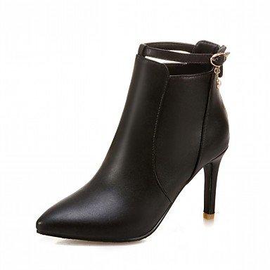 RTRY Zapatos De Mujer De Piel Sintética Pu Novedad Moda Otoño Invierno Confort Botas Botas Stiletto Talón Señaló Toe Botines/Botines De Imitación Perla US9 / EU40 / UK7 / CN41