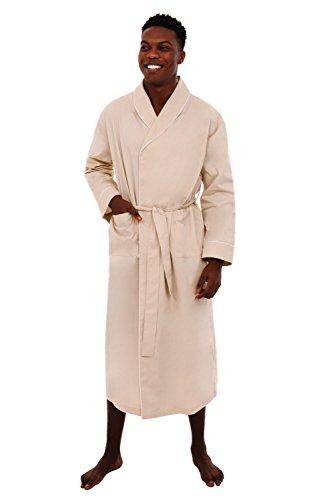 Alexander Del Rossa Mens Cotton Robe, Lightweight Woven B...