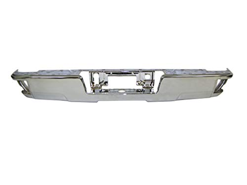 REAR BUMPER FACE BAR CHROME (W/CORNER STEP; W/O SENSOR HOLES) ()