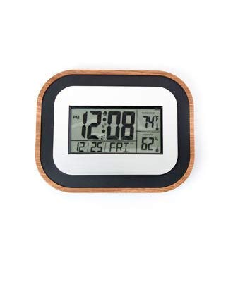 Better Homes and Gardens Atomic Clock with Forecast by Better Homes & Gardens (Square Edges)