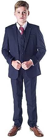 Romario - Traje azul marino para niños, traje de niños para bodas ...