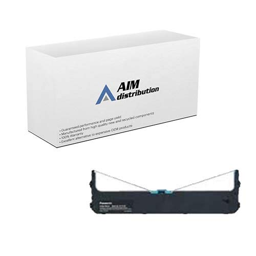 AIM Compatible Replacement for Porelon 11985 Black Printer Ribbons (6/PK) - Compatible to Panasonic KX-P190 - Generic
