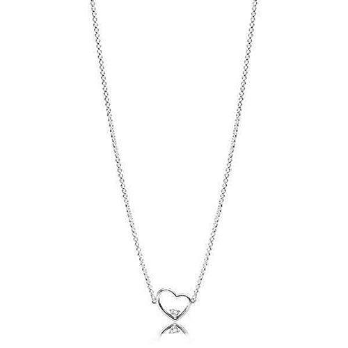 Pandora Women Silver Pendant Necklace 397797CZ-45