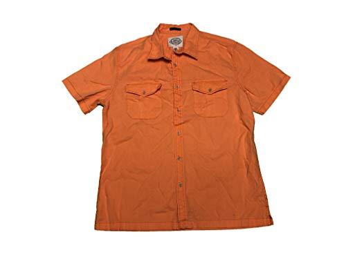 St. John's Bay Men's Woven Short Sleeve Button Front Shirt Large Orange from St. John's Bay