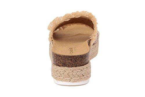 RI-BELLE - Sandalias de Piel para mujer beige Rope