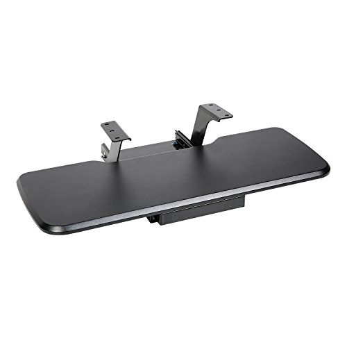 Shelf Keyboard Adjustable (Eureka Ergonomic Adjustable Computer Keyboard & Mouse Platform Tray, Desk Mount Drawer Underdesk Shelf, Black)