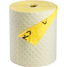 Brady CHBB15 High Visibility Barrier Backed Series Roll, Polypropylene, 15'' x 100', Yellow by Sorbent Products Company