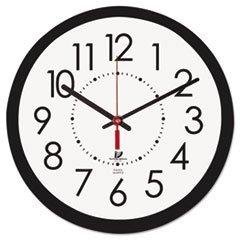 5COU Chicago Lighthouse 67801103 Electric Contemporary Clock, 14-1/2, Black