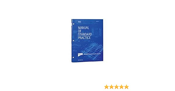 CRSI Manual Of Standard Practice 28th Edition By CRSI