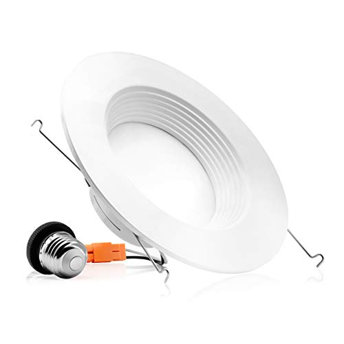 Parmida (1 Pack) 5/6 inch Dimmable LED Downlight, 12W (100W Replacement), Baffle Design, Retrofit Recessed Lighting, Can Light, LED Trim, 2700K (Warm White), 1000lm, Energy Star & ETL ()