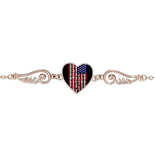 Price comparison product image BlingDi Fashion Greed American Flag Design Heart Lucky Bracelet Jewelry