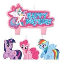 My Little Pony Birthday Candles - Set of 4 (Pony Candles)