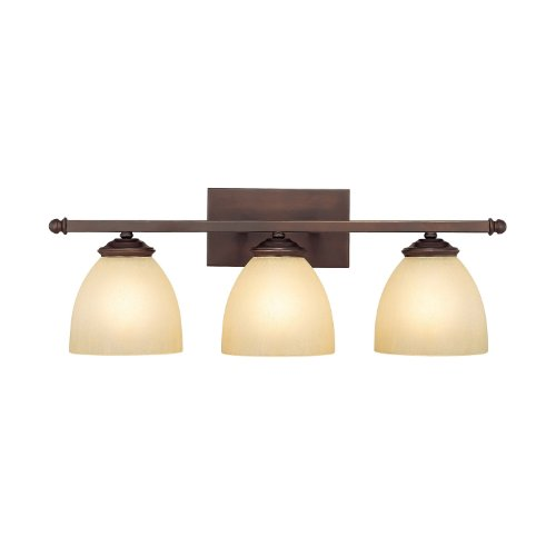 Capital Lighting 8403BB-201 Vanity with Mist Scavo Glass Shades, Burnished Bronze - Scavo Glass Accessory