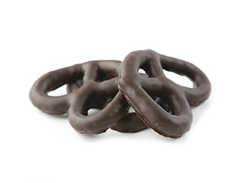 Asher Chocolate Pretzels (Asher's Dark Chocolate Covered Pretzels - One Pound)