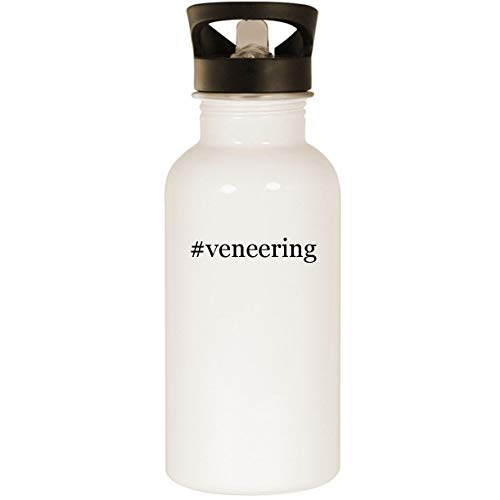 #veneering - Stainless Steel 20oz Road Ready Water Bottle, White by Molandra Products