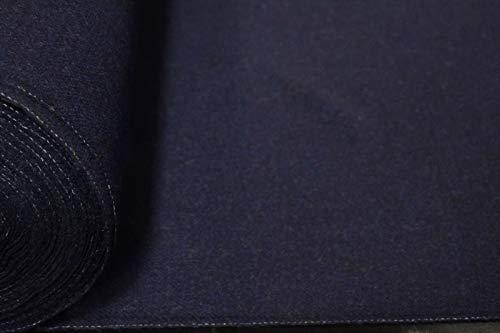 Sample- Abraham Moon 100% Wool Fabric Navy Twill Shetland Lambswool Melton AMW#14