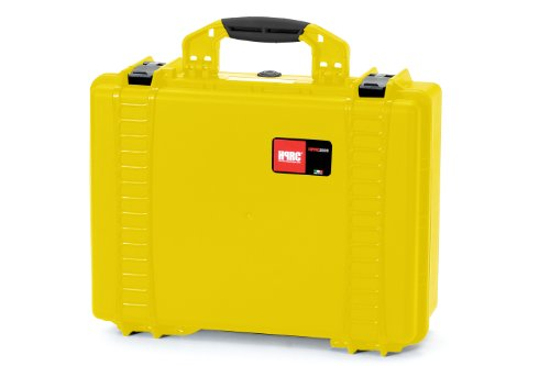 HPRC 2500F Hard Case with Cubed Foam (Yellow) by HPRC