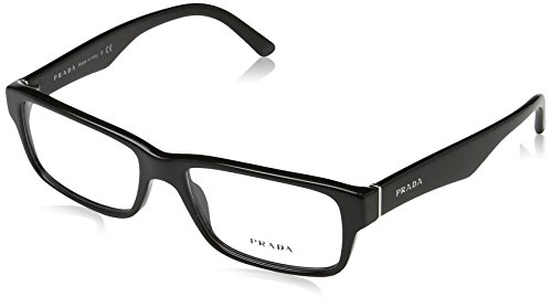 Prada Men's PR 16MV Eyeglasses Gloss Black - Womens Glasses Prada Frames