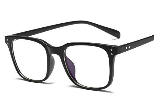 Erokku Blue Light Filter Computer/Smart Phone Glasses for Blocking UV Headache, [Anti Eye Eyestrain-Anti Blue Ray] Transparent Lens, Ultra Light Weight Frame Unisex (Men/Women) (Matte Black) (Best Blue Light Filter Android)