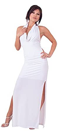 Backless Sexy Long Evening Club Cocktail Halter Dress from Hot Fash Dresses - TONIGHT White