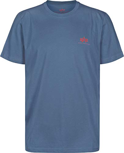 Small Basic Blue Men Powder Logo Industries Alpha shirt T wUPSXI