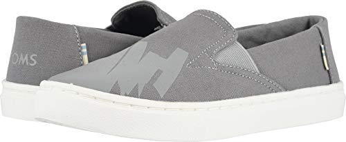 TOMS Kids Boy's Luca (Little Kid/Big Kid) Grey Canvas/Glow in The Dark 4.5 M US Big Kid