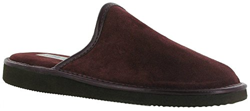 Burgundy Suede Mule Slippers Slipper Reg Mens Mirak wp8qS7TM