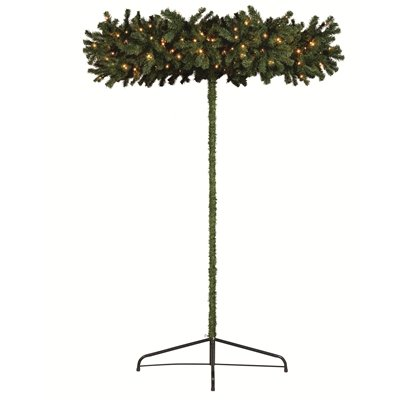 Umbrella 2.4m Green Artificial Christmas Tree with 250 Warm White ...