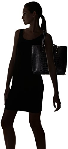 ARMANI JEANS CROCO SHOPPING BAG 9221456A711-00020 NERO