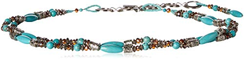Ariat Women's Beaded Turquoise Strand Belt, silver, Extra Large