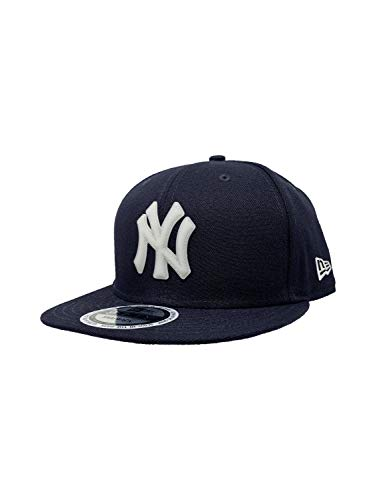 New Era New York Yankees Adjustable 9Fifty MLB Straight Brim Baseball Cap 950 (One Size, NVY Glow in Dk)