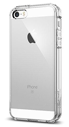 Spigen Ultra Hybrid Designed for Apple iPhone SE Case (2016) - Crystal Clear