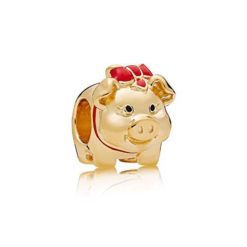 (Pandora Shine Piggy Bank Gold One Size Charm)