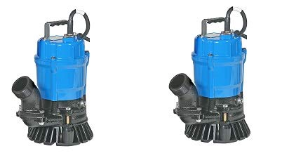 Tsurumi HS2.4S; semi-vortex submersible trash pump w/agitator, 1/2hp, 115V, 2