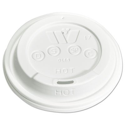 Plastic Lids For 12,16,20,24 Oz Foam Cups, Sip-Thru, Id, White, 1000/carton -